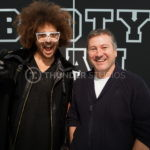 Rodric David and Redfoo on set at Thunder Studios
