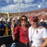 Rodric David and his wife at a USC Trojans game