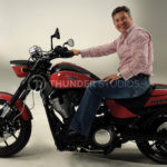 Rodric David on the new Victory Hammer motorcylce