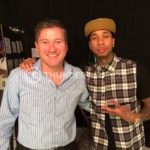 Rodric David with Tyga at Thunder Studios