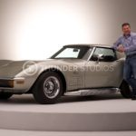 Rodric David with a classic Corvette Stingray